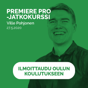 Premiere Pro jatkokurssi