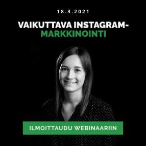 Vaikuttava Instagram-markkinointi webinaari
