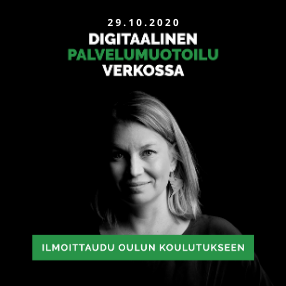 Digitaalinen palvelumuotoilu verkossa koulutus Oulu