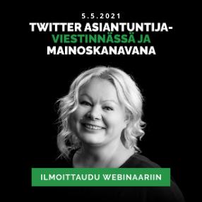 Twitter asiantuntijaviestinnässä ja mainoskanavana
