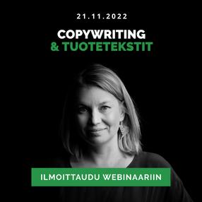 Copywriting ja tuotetekstit webinaari