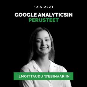 Google Analyticsin perusteet webinaari