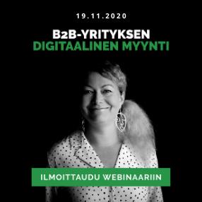 B2B-yrityksen digitaalinen myynti webinaari