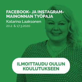 Facebook- ja Instagram-mainonnan työpaja
