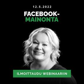 Facebook-mainonta edistyneille webinaari