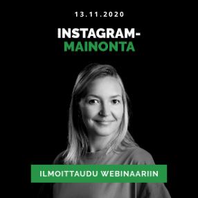 Instagram-mainonta webinaari