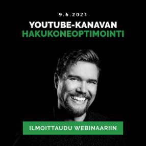 YouTube-kanavan hakukoneoptimointi webinaari