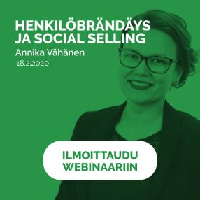 Henkilöbrändäys ja social selling webinaari