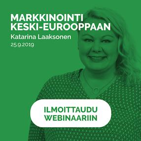 Markkinointi Keski-Eurooppaan webinaari