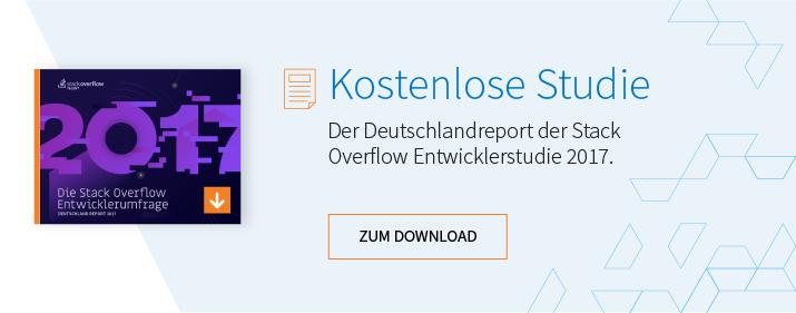 Die Stack Overflow-Entwicklerumfrage 2017