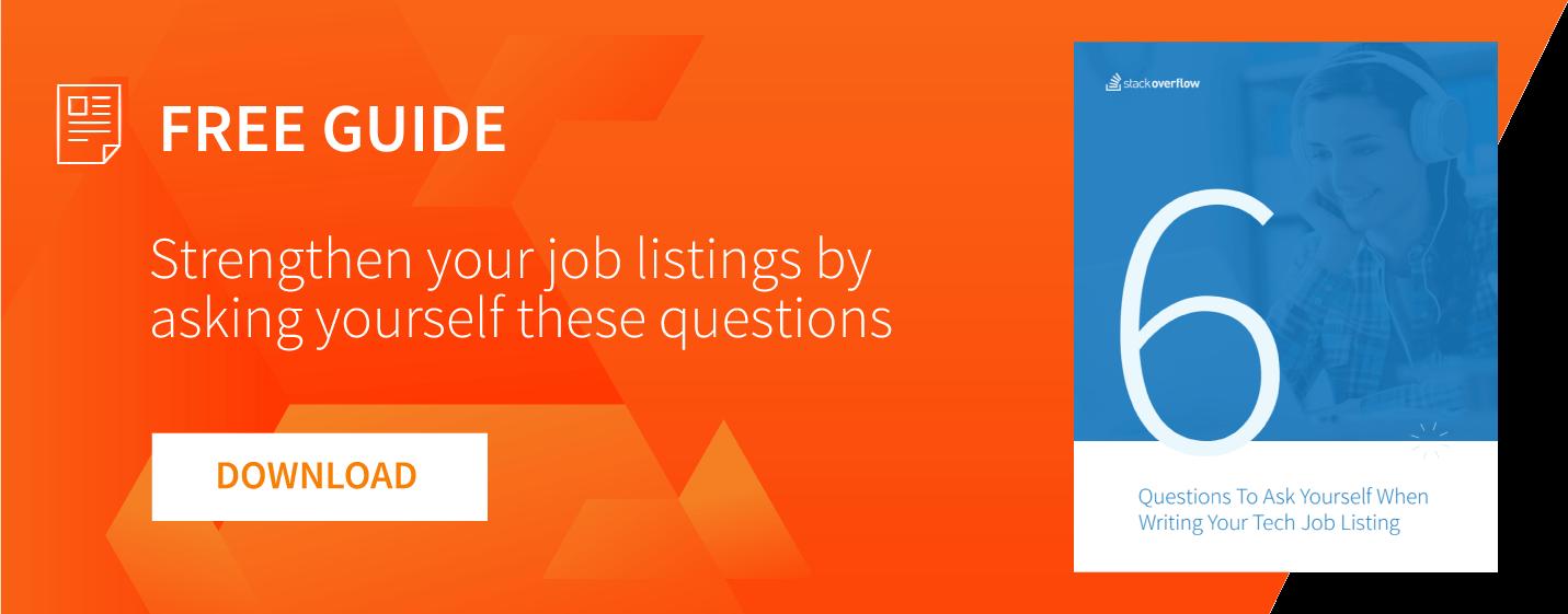 job listing questions