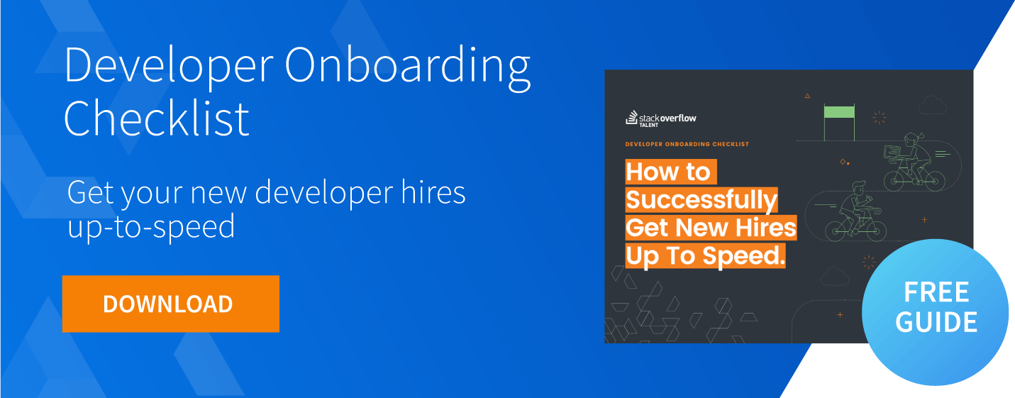 developer onboarding checklist