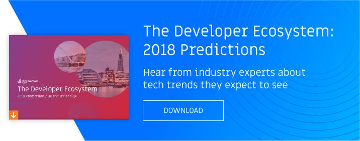 2018 developer predictions