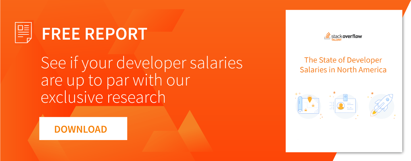 NA developer salaries