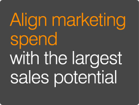 Align marketing spend with  the largest sales potential
