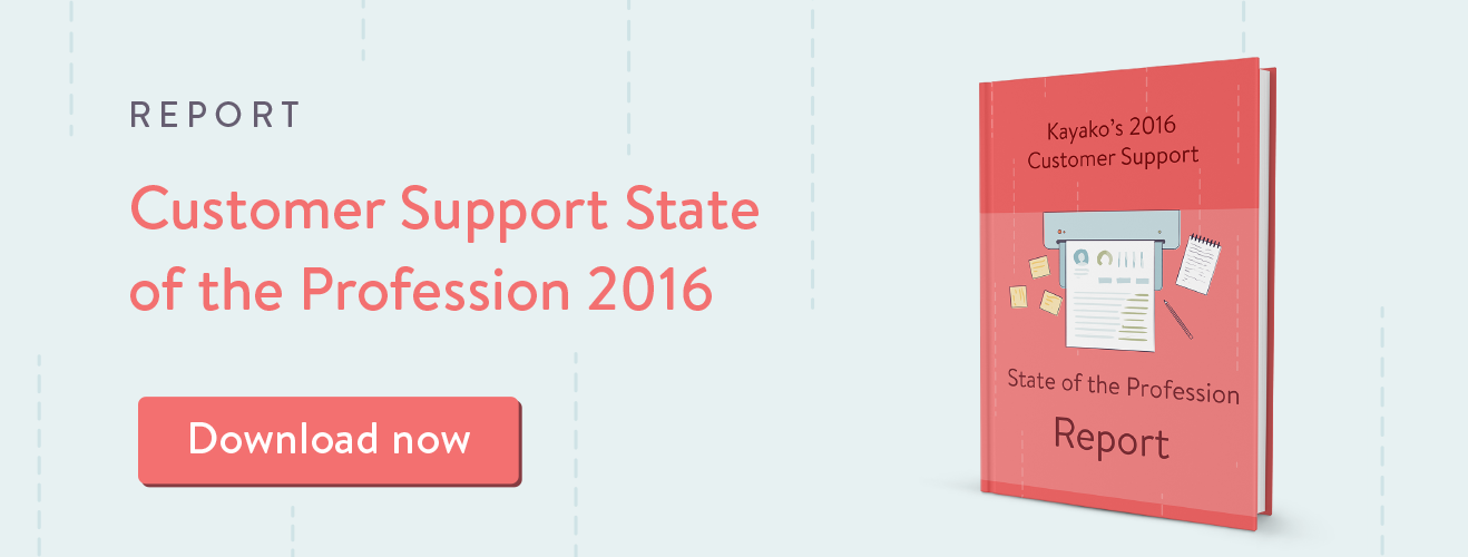 Customer Support State of the Profession 2016 Report