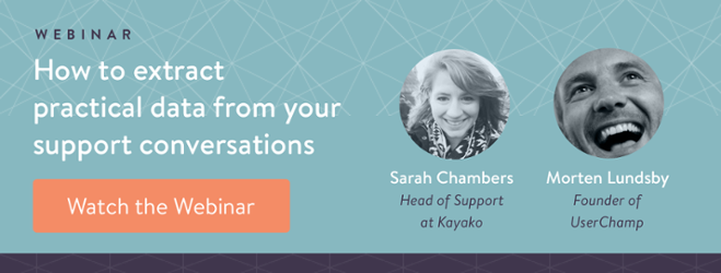 Webinar: How to extract practical data from your support conversations