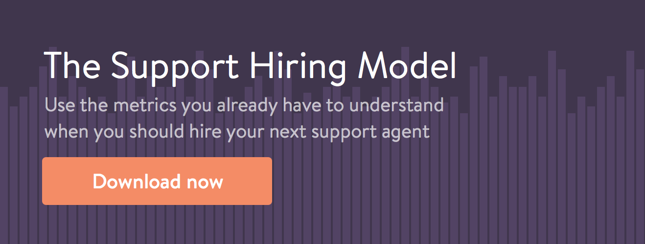 The support hiring model