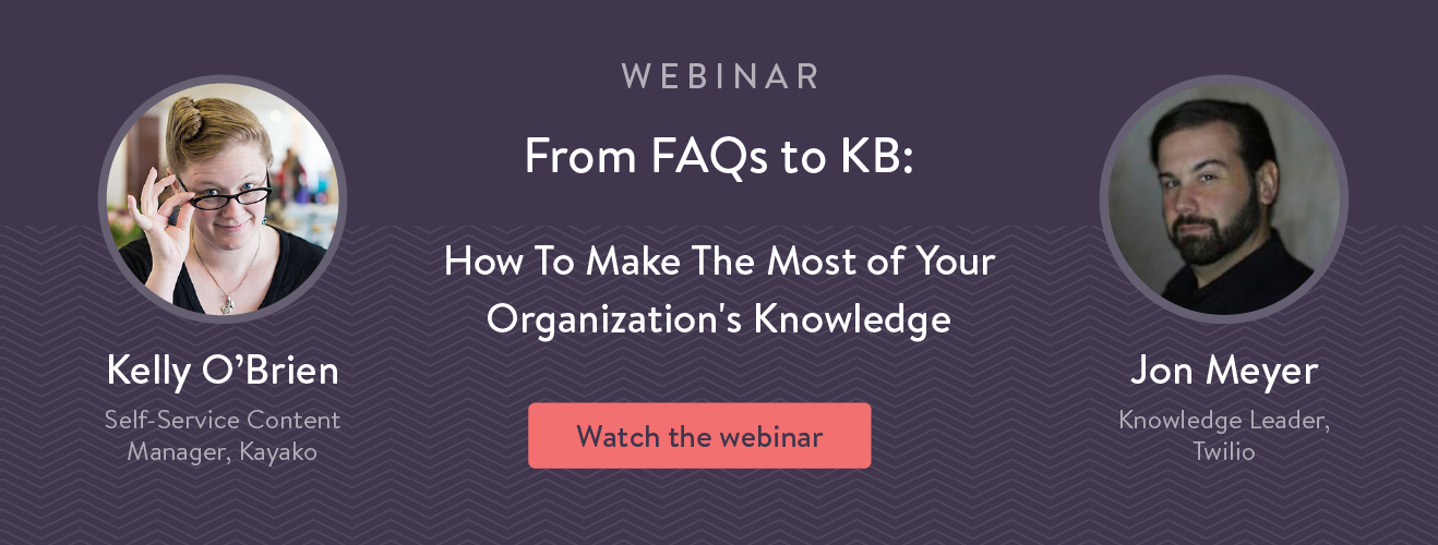 knowledge base format examples in this webinar