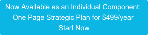 Now Available as an Individual Component:  One Page Strategic Plan for $499/year  Start Now