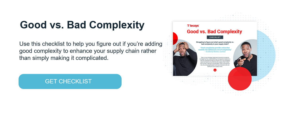 Good vs. Bad Complexity Checklist