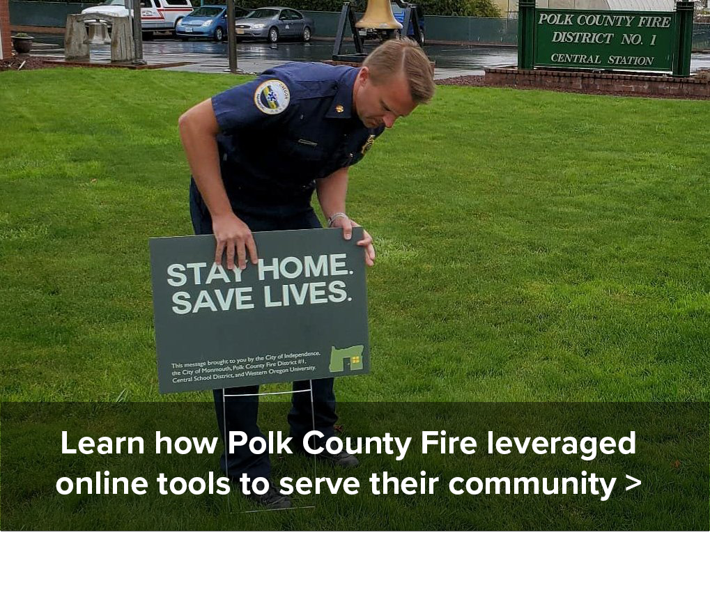 polk fire stay home campaign