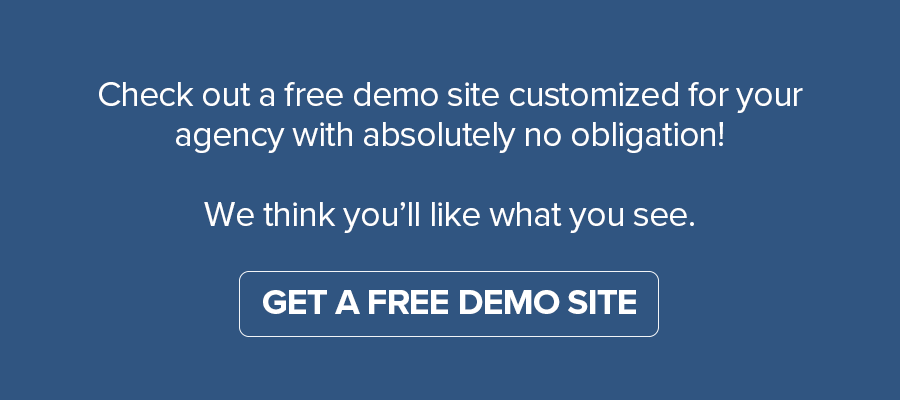 Sign up for a free demo site button