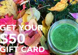 $50 organic superfood gift card