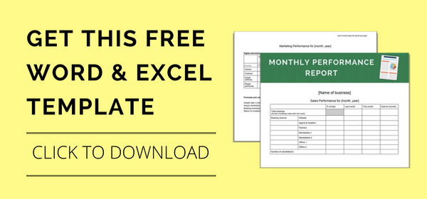 Download your free monthly performance report templates