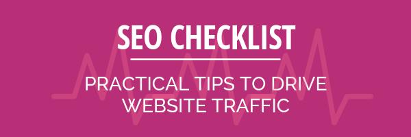 SEO checklist Consigli pratici per indirizzare il traffico sul tuo sito