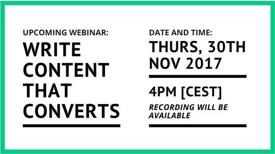 Write content that converts - A webinar