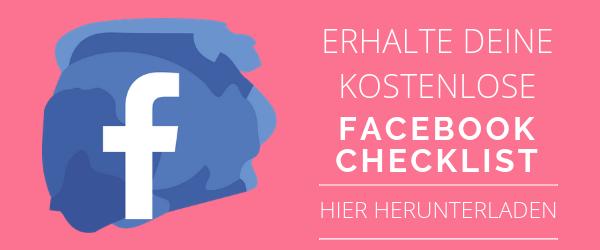 Facebook Checkliste