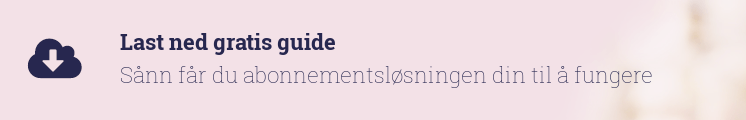 Last ned gratis guide             Sånn får du abonnementsløsningen din til å fungere