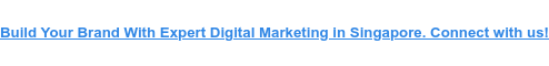Build Your Brand With Expert Digital Marketing in Singapore. Connect with us!