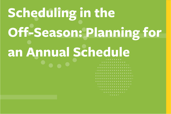 """Clickable image to read """"Scheduling in the Off-Season – Planning for an Annual Schedule"""""""