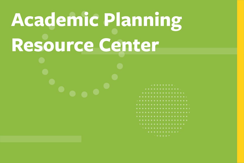 Academic Planning Resource Center