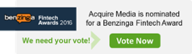Vote Acquire Media for a Fintech Award
