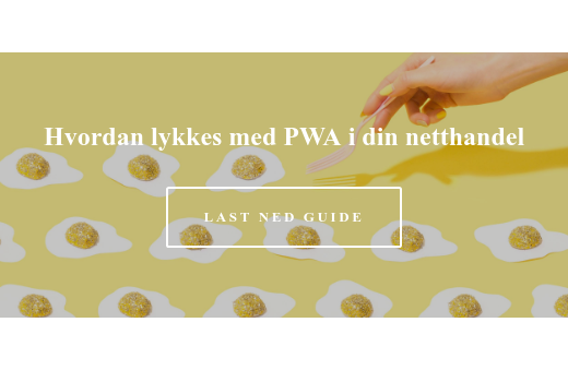 Hvordan lykkes med PWA i din netthandel Last ned guide