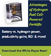 Advantages of Hydrogen Fuel Cell Powered Forklifts