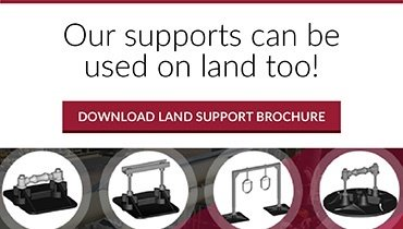 Our Support Can Be Used On Land Too!  Download Our Land Support Brochure