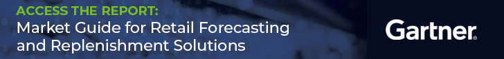 Gartner Market Guide for Retail Forecasting and Replenishment Solutions Access