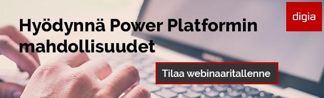 Power Platformin mahdollisuudet -webinaari