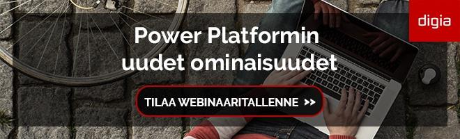Power Platformin uudet ominaisuudet -webinaaritallenne