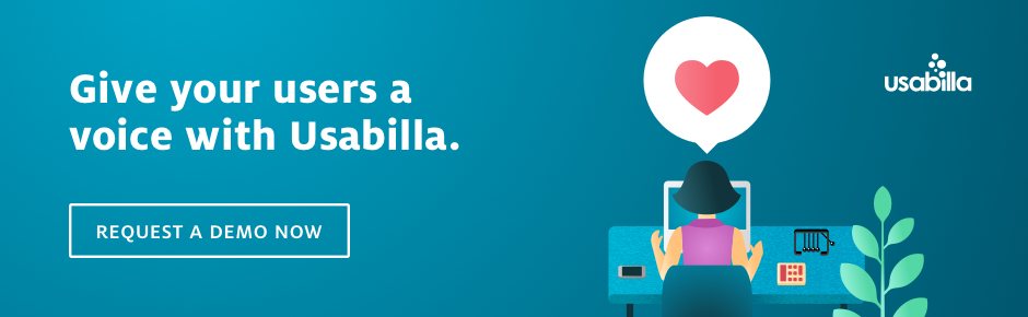 Collect real time user feedback with Usabilla