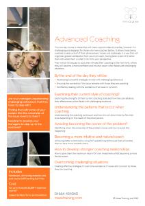 Advanced coaching