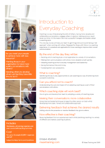 Introduction to everyday coaching