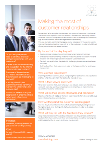 Making the most of customer relationships