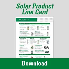 Solar Product Line Card