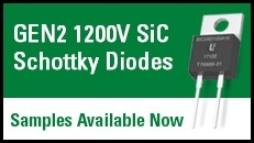 SiC Schottky Diodes Samples Now Availabe
