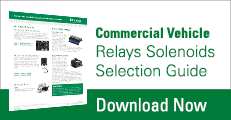 Commercial Vehicle Relays Solenoids Selection Guide